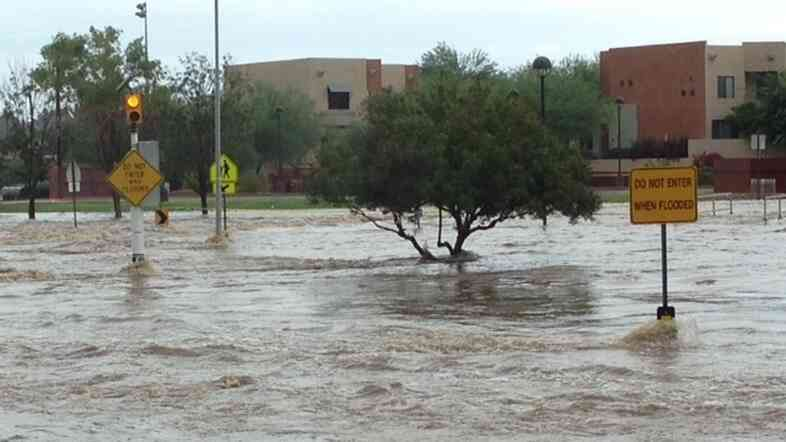 Scottsdale, Ariz., also experienced flooding near 78th and Roosevelt streets. This area is designed as a runoff wash.