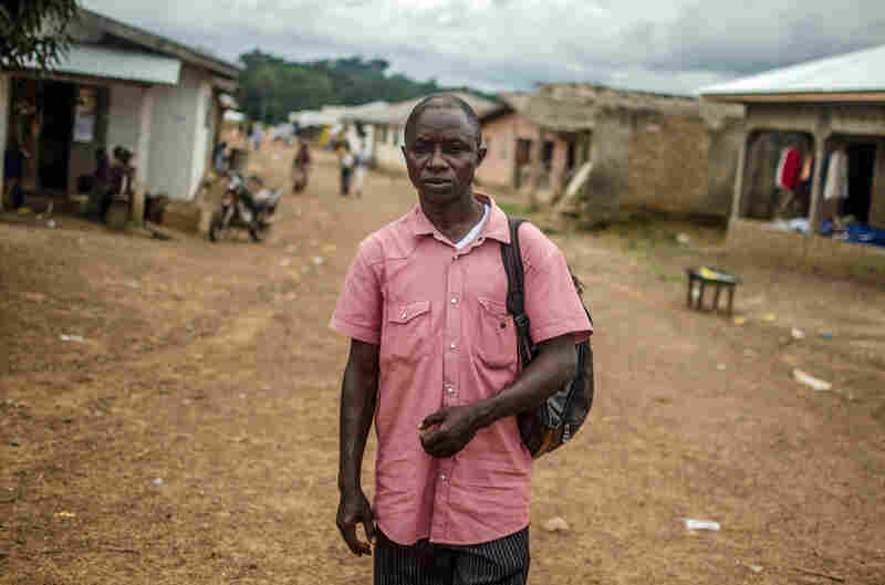Mohammed Marmid Dulleh, a local leader who belongs to the Ebola task force, says Barkedu is working hard to increase awareness of the disease.