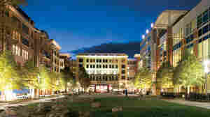 New transit-oriented, mixed-use walkable downtowns, like this one in Rockville, Md., are often replacing indoor shopping malls and strip malls that once defined suburban America.