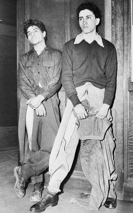 In 1943, Noe Vasquez and Joe Vasquez — both 18 years old but not relatives — told Los Angeles police that they were roughed up by sailors who tore their zoot suit-style clothes. And even after all that? Swag.