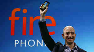 Amazon CEO Jeff Bezos introduces the new Amazon Fire phone June 18 in Seattle.