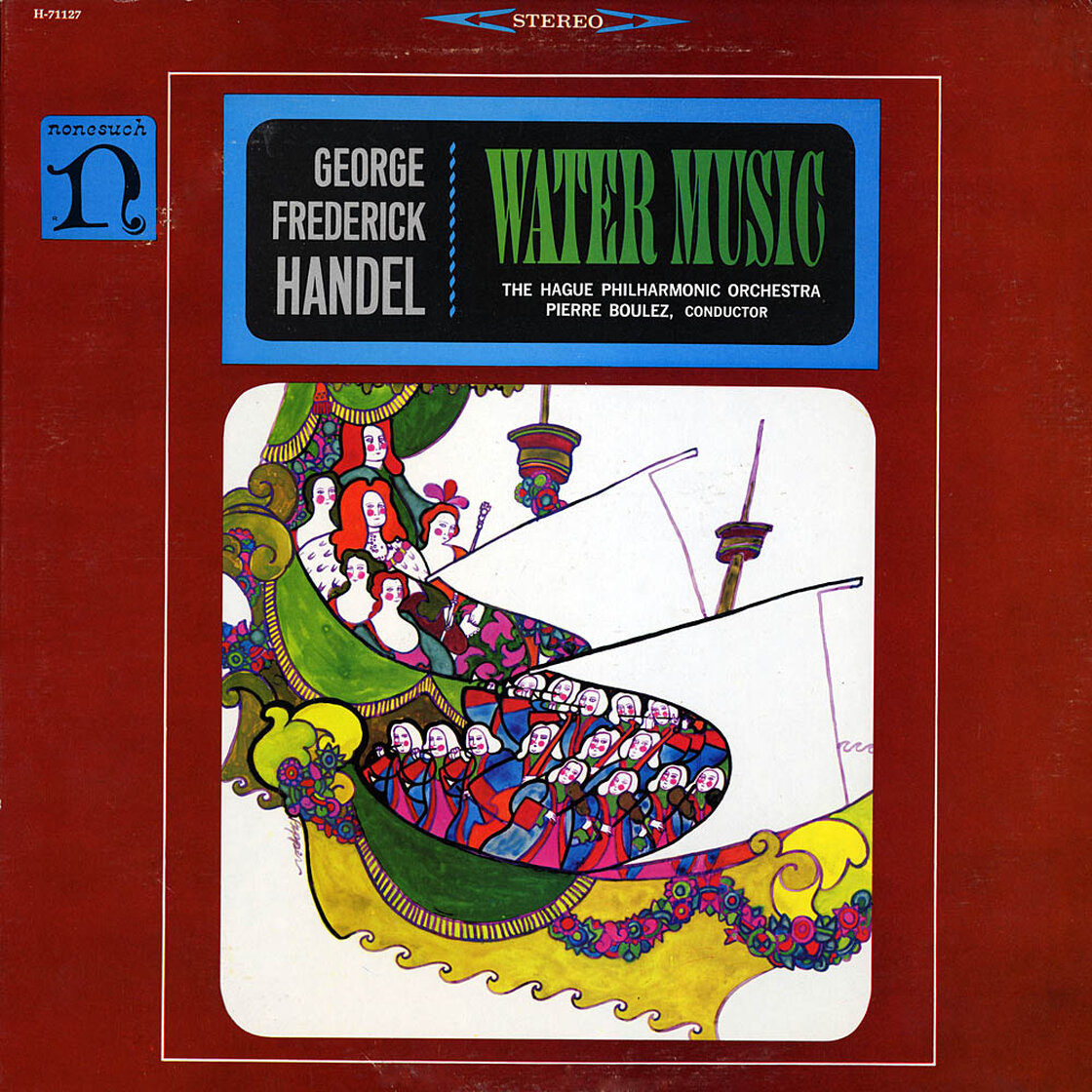 Pierre Boulez conducts George Frideric Handel's Water Music, released in 1964.