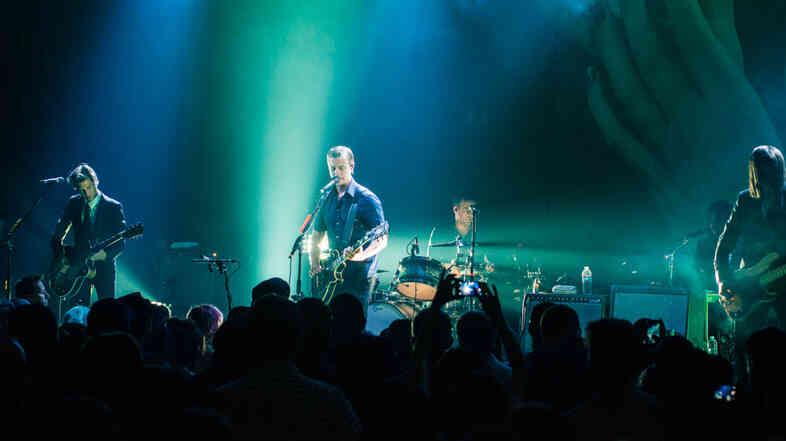 Interpol performs live at Mack Sennett Studio in Los Angeles.