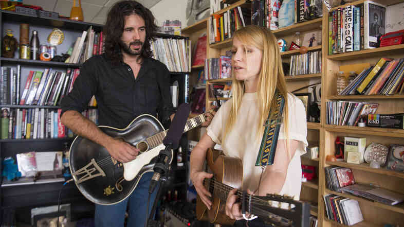 Tiny Desk Concert with Luluc on August 7, 2014.