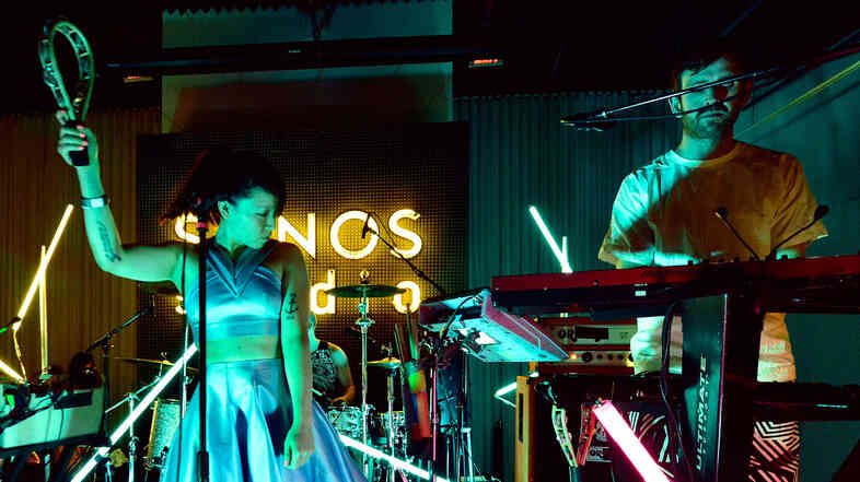 Little Dragon performs at KCRW's taping of Morning Becomes Eclectic on August 25.