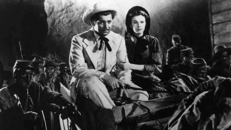 Scarlett O'Hara (Vivien Leigh) and Rhett Butler (Clark Gable) made their film debut in 1939's Gone with the Wind.