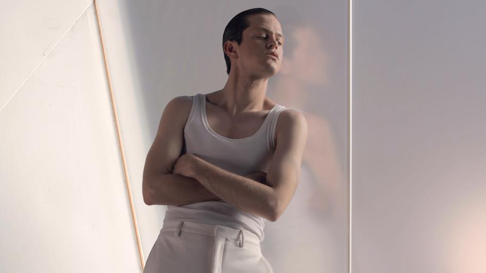 Perfume Genius' new album, <em>Too Bright</em>, comes out Sept. 23. (Luke Gilford/Courtesy of the artist)