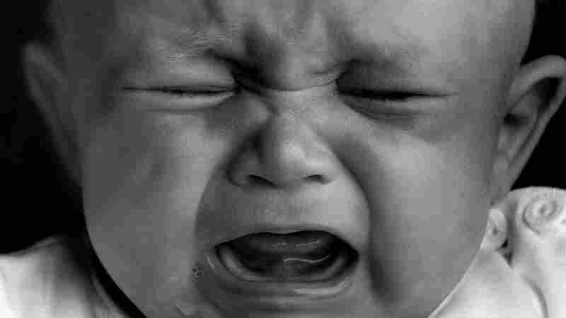 A wailing baby.
