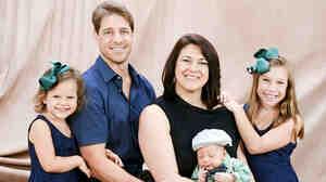 Carl Abramson, Kim Sarubbi and their three children.