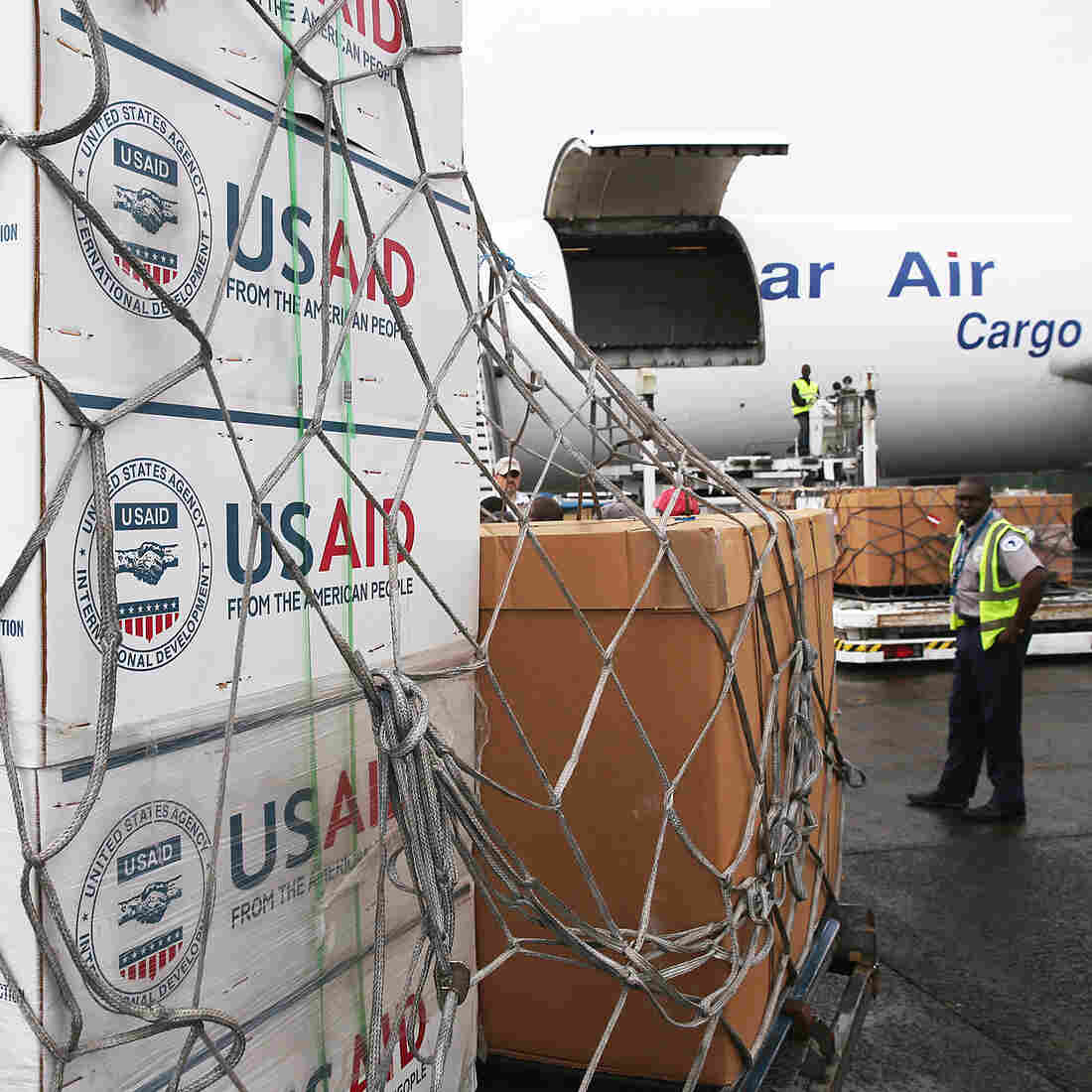 What The U.S. Has Given To Fight Ebola, From Thermometers To Soap