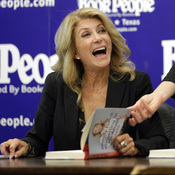 Wendy Davis holds a book signing Thursday in Austin, Texas.