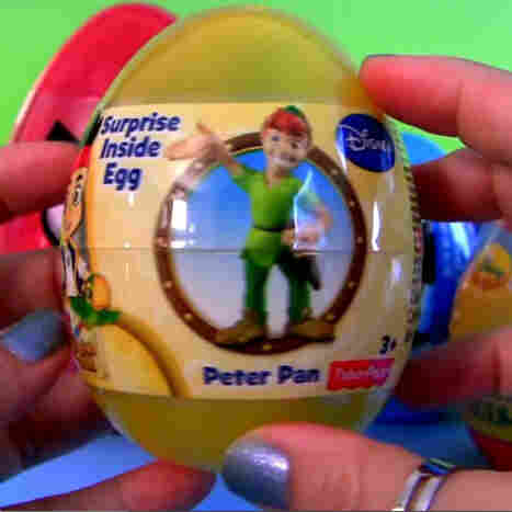 A screengrab shows YouTube user DisneyCollector opening an egg surprise toy on one of her many videos. DisneyCollector's channel has more than 2 million subscribers.
