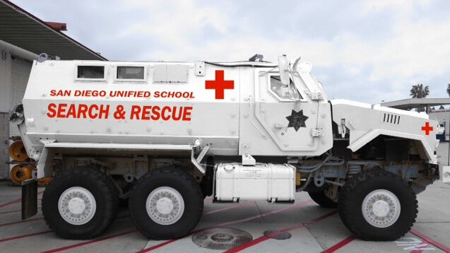 San Diego School District Paints Mrap White So It Look