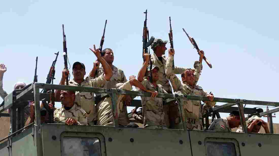 Iraqi troops in Anbar province in June. It's unclear whether Sunnis will join the U.S. in the fight against the Islamic State.