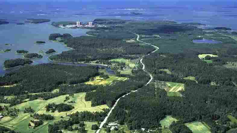 An aerial view shows Posiva Oy's prospective nuclear waste repository site in Olkiluoto, Finland.