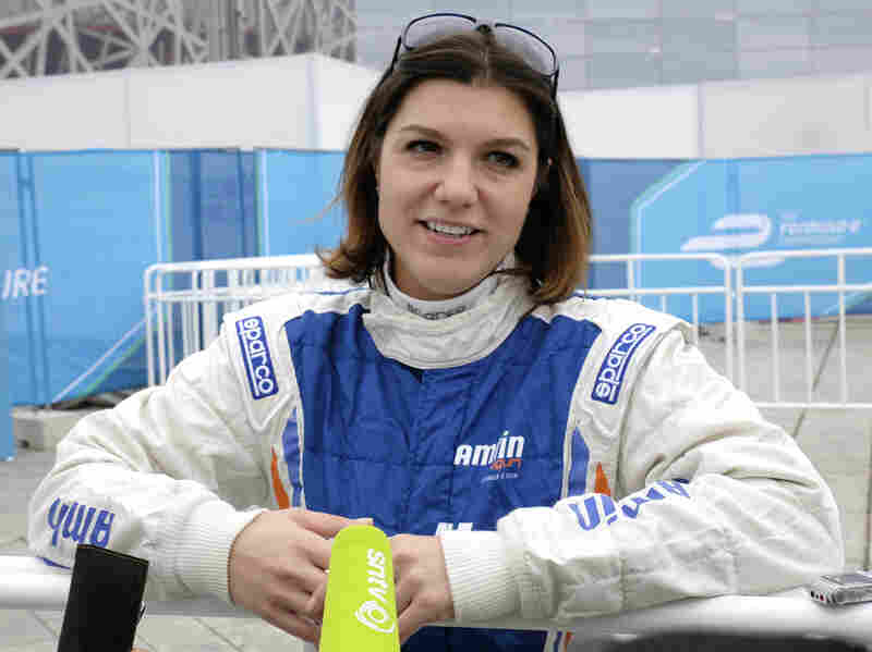 """""""You have to be patient, and always forward-thinking as a driver,"""" says Katherine Legge of the Amlin Aguri team."""