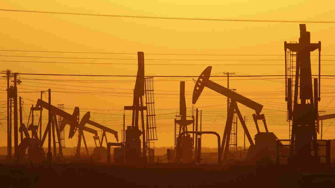 Pump jacks are seen in an oil field over the Monterey Shale formation near Lost Hills, Calif. Much of the U.S. oil industry wants to lift an export ban that followed the 1970s energy crisis.