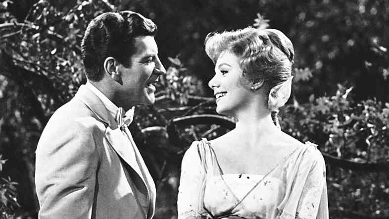 Robert Preston and Shirley Jones in the film version of The Music Man.