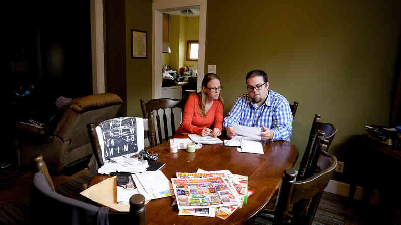 Conrad Goetzinger and Cassandra Rose struggle to pay their bills as $760 is garnished from their paychecks every two weeks by debt collectors. Twice, Goetzinger's bank account has been emptied by collectors after he failed to payoff a loan for a laptop.