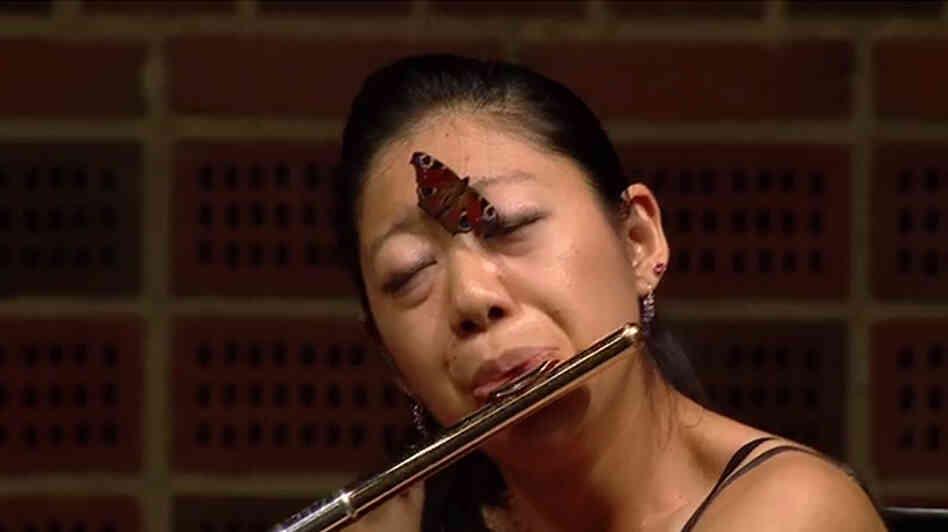 Flutist Yukie Ota kept her cool at the Carl Nielsen Flute Competition yesterday in Odense, Denmark.