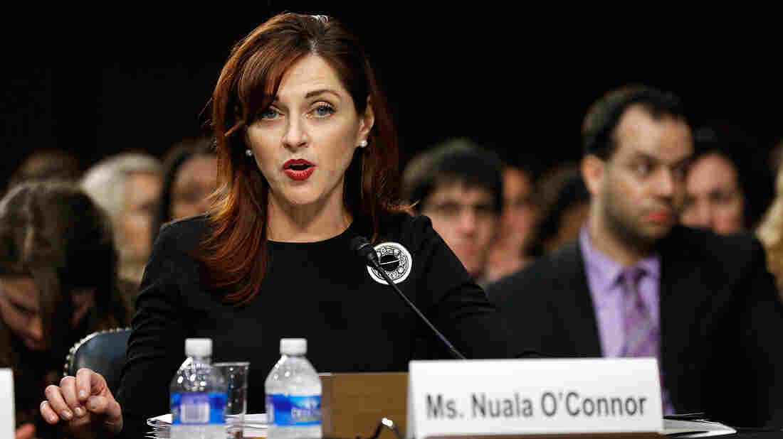 Nuala O'Connor, president and CEO of the Center for Democracy and Technology, testifies on net neutrality issues before the Senate Judiciary Committee on Wednesday.