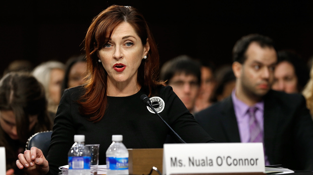 Nuala O'Connor, president and CEO of the Center for Democracy and Technology, testifies on net neutrality issues before the Senate Judiciary Committee on Wednesday. (Getty Images)