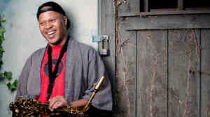 Steve Coleman practices in his backyard in Allentown, Penn.