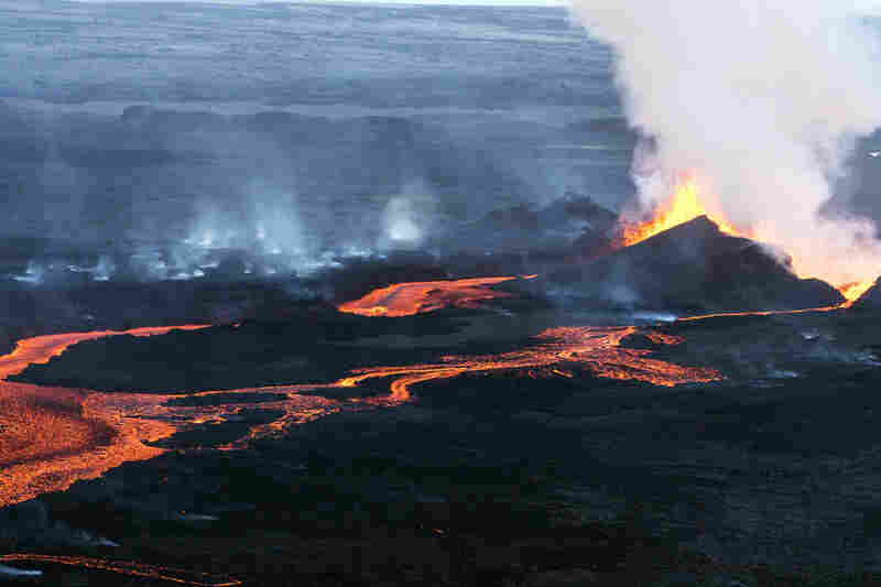 The lava has covered an area roughly the size of Manhattan.