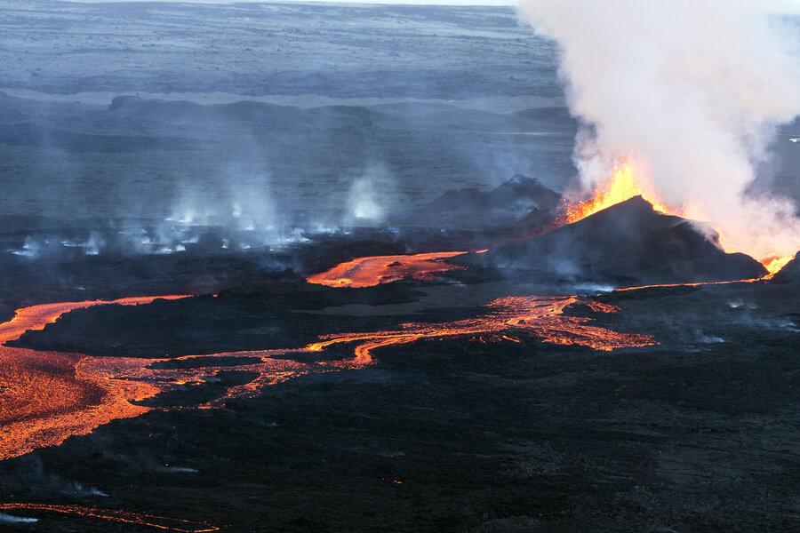 lava volcano massive volcanic eruption is making iceland grow the two way npr