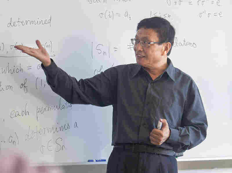 Yitang Zhang, a mathematics professor of analytic number theory at University of New Hampshire, on Sept. 8.