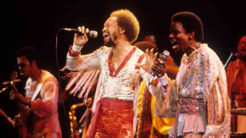 Earth, Wind & Fire onstage in 1979.