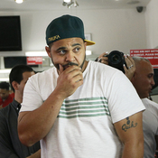 Joell Ortiz at a DJ Booth cypher in Greenpoint, Brooklyn, in September.