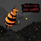 Japanese giant hornet vs. European honeybees.