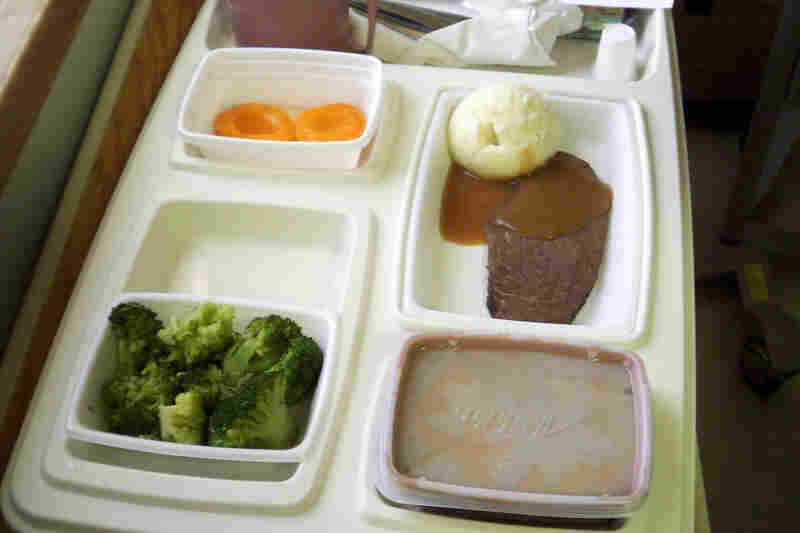 "Canada: ""The food was inedible,"" Flickr user Paul Jerry wrote via Flickr Mail about the meat-and-cooked-vegetable platter served to his father at a Canadian hospital. Jerry says he had to bring his father food from the outside."