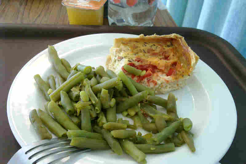 """U.K.: """"The food was cooked for a longer amount of time than I would have done it, but not bad,"""" Charles Hutchins, also known on Flickr as celesteh, wrote via Flickr Mail of the green beans and quiche he was served in a London hospital."""