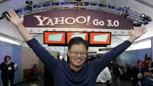 Yahoo co-founder Jerry Yang at the 2008 Consumer Electronics Show in Las Vegas. Yahoo will gain nearly $8 billion from the Alibaba IPO because of its $1 billion investment in Alibaba 2005.