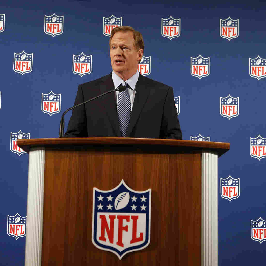 """NFL Commissioner Roger Goodell held a news conference on Friday, during which he said, """"I got it wrong on the handling of Ray Rice. ... But now I will get it right."""""""