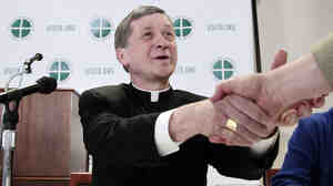 Bishop Blase Cupich will replace Cardinal Francis George as the new archbishop of Chicago. He's seen here in 2011, presenting a Church study on clergy sex abuse.