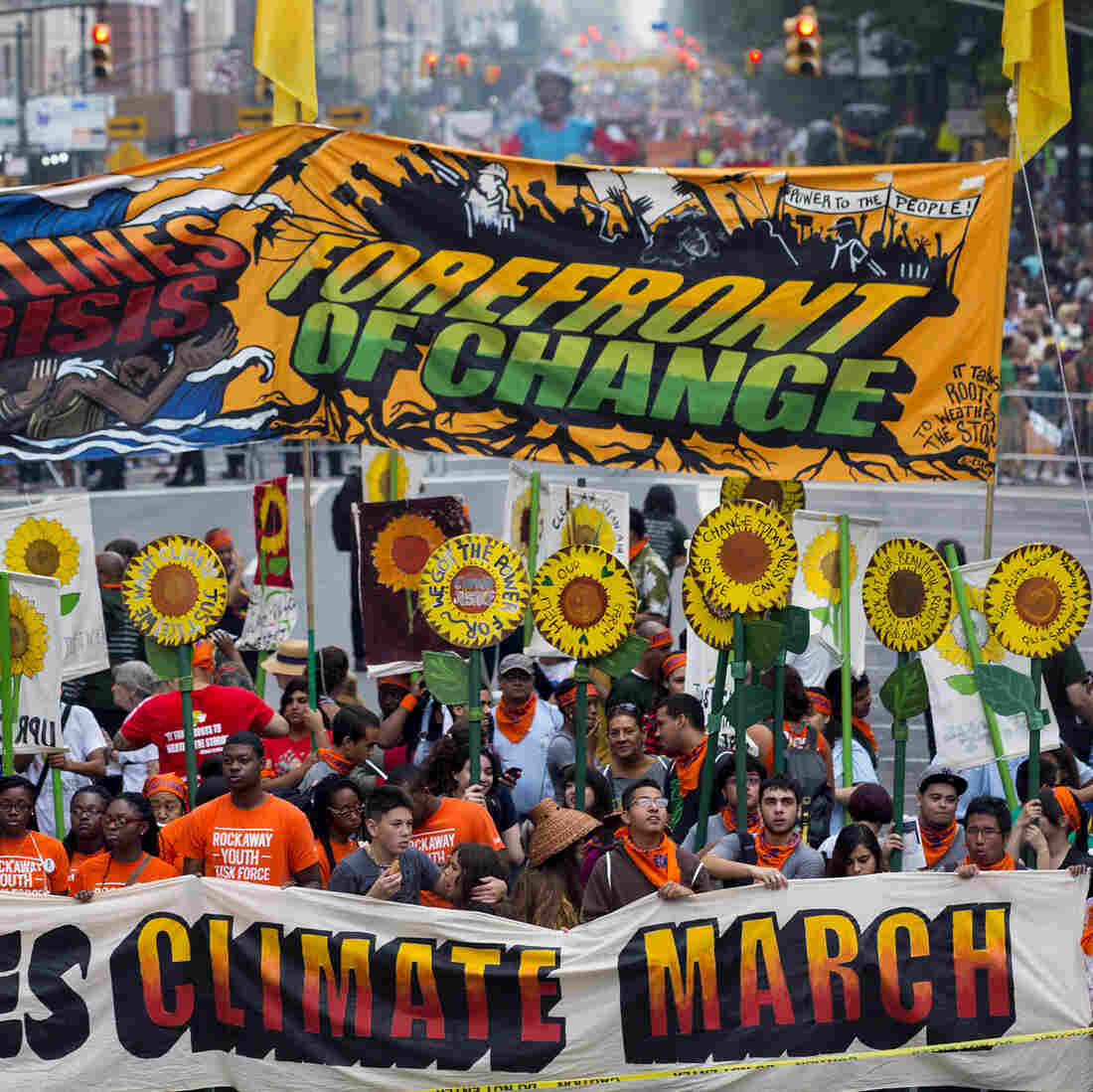 Large Protests In Hundreds Of Cities Vent Ire Over Climate Change