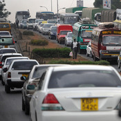 A traffic jam in Nairobi, Kenya. The city is the world's fourth-most congested, far worse than any in the U.S.