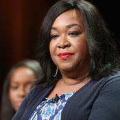 Shonda Rhimes speaks onstage at the How to Get Away with Murder panel during the Television Critics Association summer press tour.