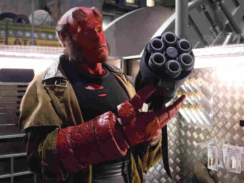 """Perlman plays a character he describes as a """"red-tailed, red-bodied, wise-ass devil"""" in Hellboy II: The Golden Army, part of a movie franchise that was adapted from a comic book series."""