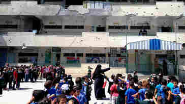 Classrooms across Gaza are crowded with as many as 50 or 60 students, principals say, as dozens of schools building have been destroyed, damaged or are still housing people who lost their homes.
