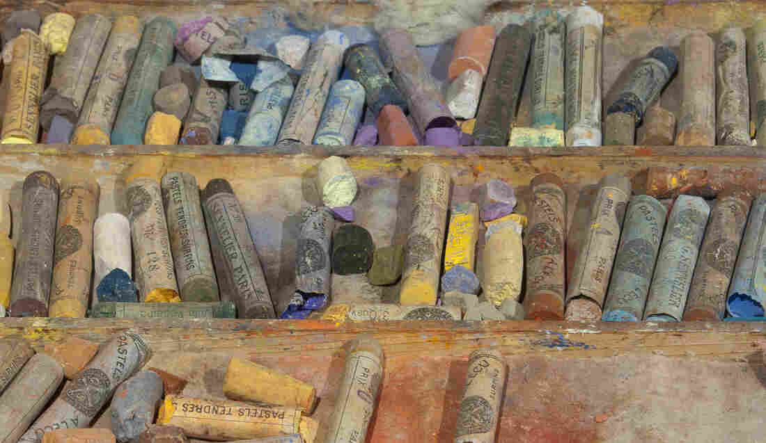 Six years before Cassatt died she gave these boxes of chalk pastels to Electra Webb Bostwick, the 10-year-old granddaughter of her New York friend and patron Louisine Havemeyer. Click here for a closer look.