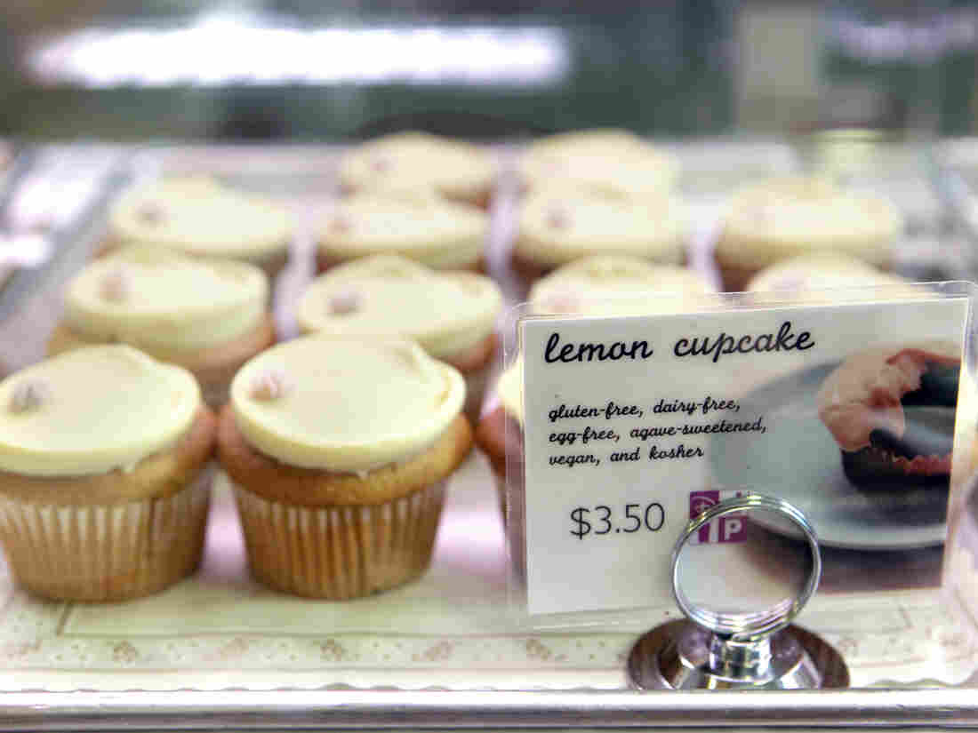 Choosing these lemon cupcakes because they're vegan doesn't mean you have to give up your other causes.