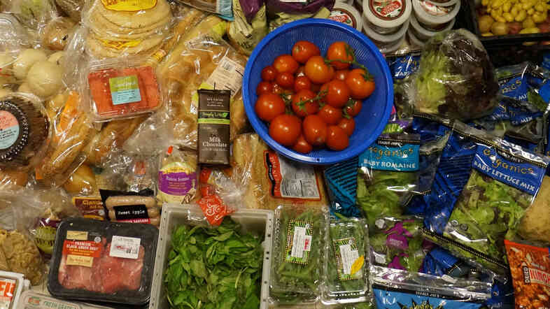 Bounty from the bin: Thaler says you can find plenty of tasty, edible produce that's tossed out. Plastic-wrapped produce tends to be a safe bet, he says.