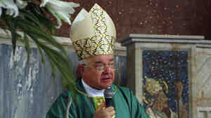 Archbishop Jozef Wesolowski, the Vatican's ambassador to the Dominican Republic, offers Mass in Santo Domingo in 2009. He has been accused of paying for sex with children while he was a papal ambassador in the Dominican Republic.