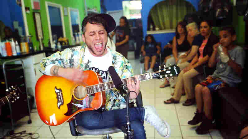 Garage-Rocker AJ Davila Unplugs In A Hair Salon