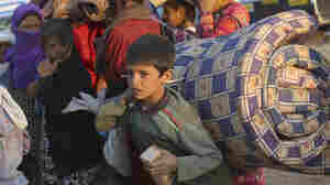 Thousands of Syrians enter Turkey at Yumurtalik crossing gate near Suruc on Tuesday. The United Nations High Commissioner for Refugees has warned of a growing refugee crisis.