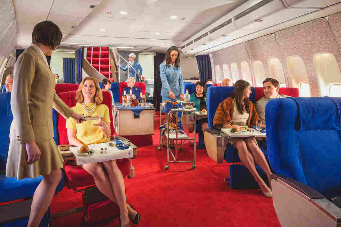 Break out the polyester: For a price, you can go back in time on an L.A. sound set and enjoy a meal in the style of an international Pan Am flight in the 1970s, complete with linens and china.